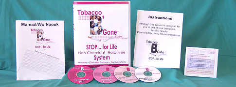 The TobaccoB'Gone Stop for Life System: a strict step-by-step approach to smoke cessation and relapse prevention.